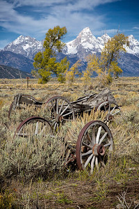 Old relics near Tetons