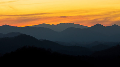 Sunset at Great Smokey National Park