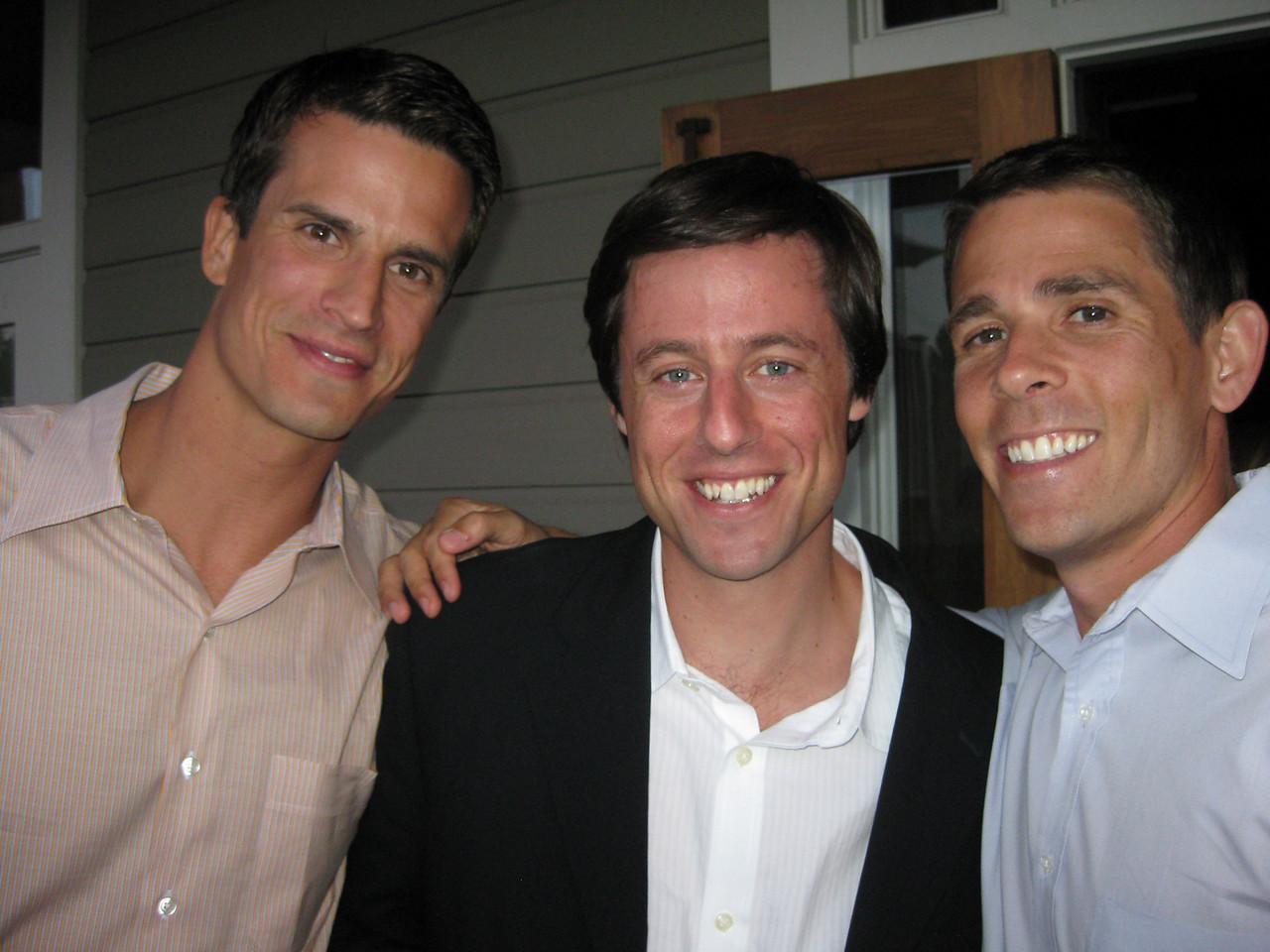 """Kurt, Jesse (aka """"the groom"""") and Adam"""
