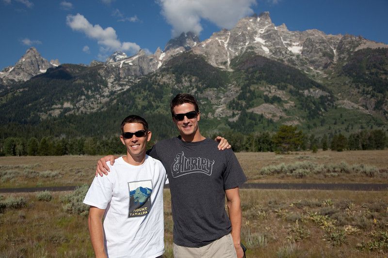 Adam and Kurt in Grand Teton National Park
