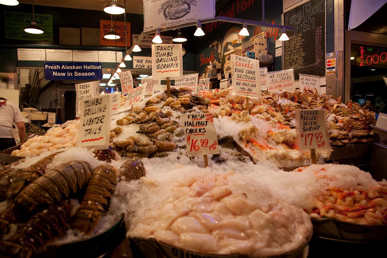 Seafood galore.