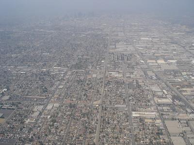 towards downtown LA