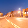 Night lights on Main Street Hannibal Missouri US