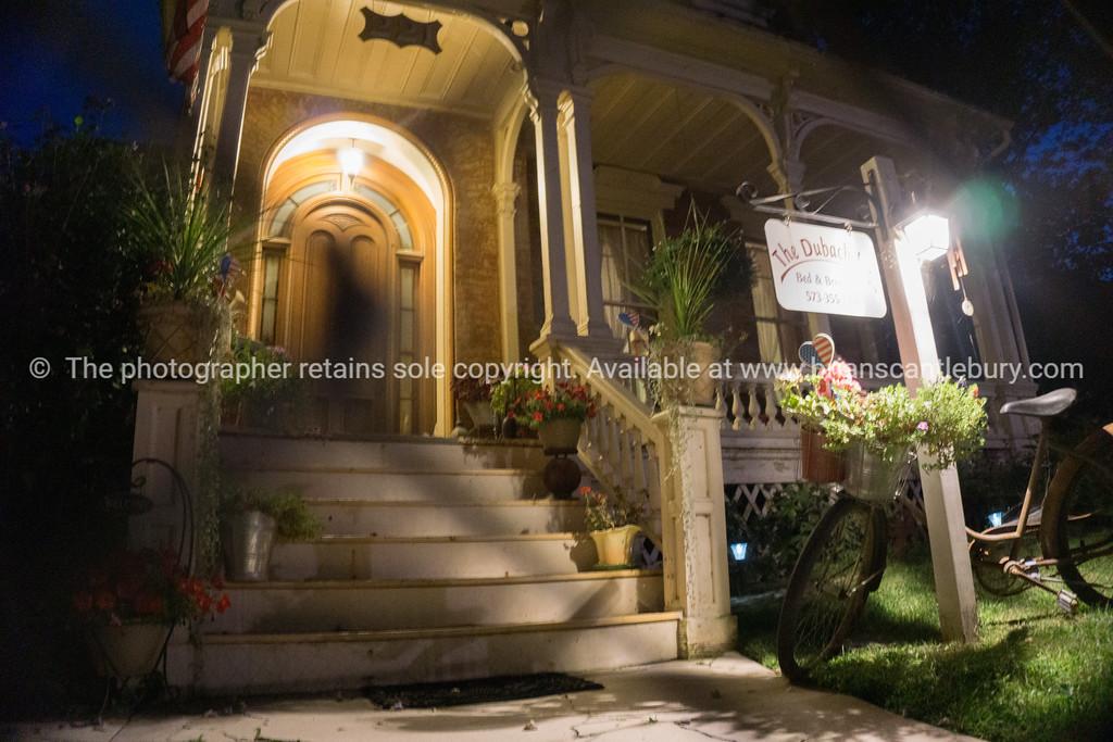 Stately homes at night Hannibal Missouri USA