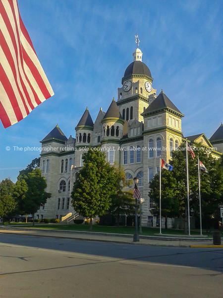 Jasper County Courthouse street view in Carthage Missouri, USA
