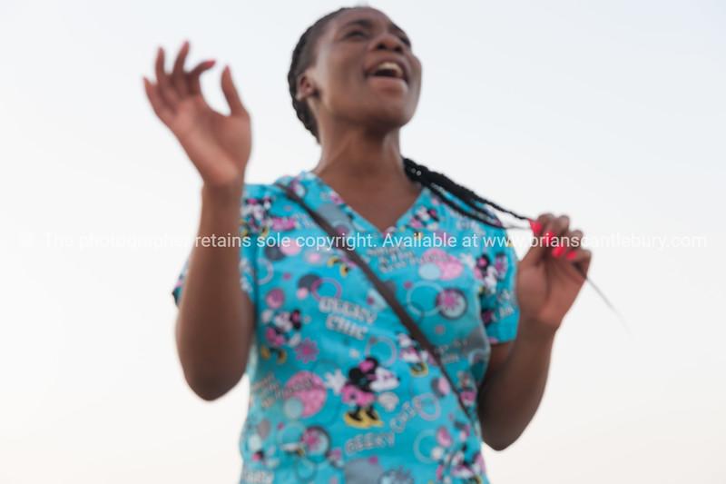 Posing and singing Mississippi Riverside Hannibal Missouri US