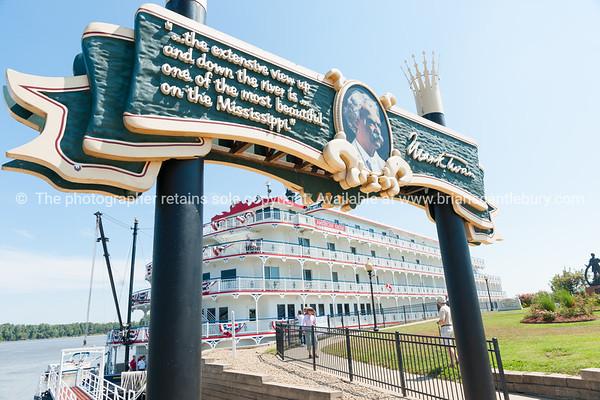 American Eagle  paddlewheel riverboat American Eagle docked at Hannibal Missouri USA