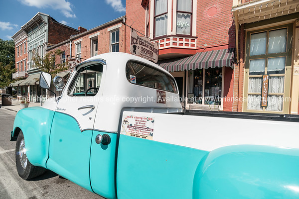 Restored Studebaker truck in Main Street Hannibal Missouri USA