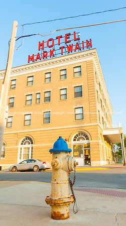 Mark Twain Hotel building Hannibal Missouri USA