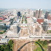 St Louis, architecture, and famous arch, Missouri,USA.