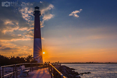 Barnegat Light At Sunset