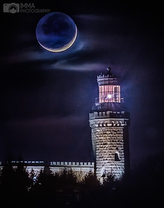 Moon Over the Twin Lights