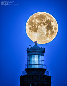 Full Moon by the Twin Lights