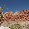 Red Rock Canyon, the magnificent red stratified rock of theis desert area.