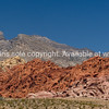 Red Rock Canyon, the magnificent red stratified rock of theis desert area.<br /> Red Rock Canyon, located 20 miles west of Las Vegas off State Highway 159.