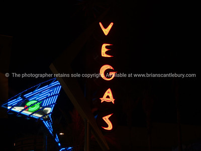 Have a drink, on Las Vegas. fremont St. neon.