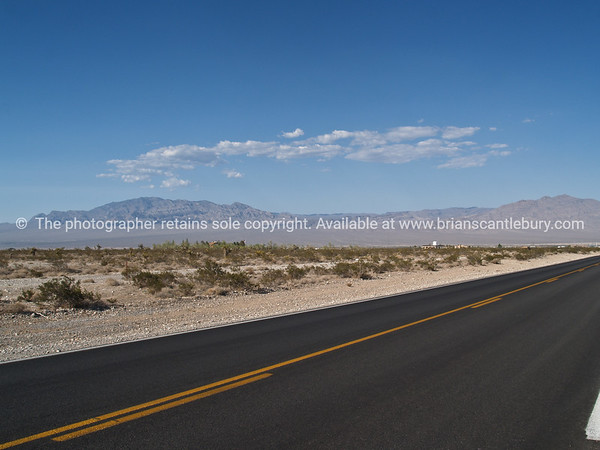 Road through Red Rock Canyon, located 20 miles west of Las Vegas off State Highway 159