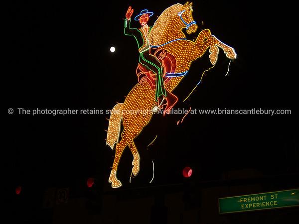 The horseman, neon