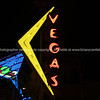The lights of Las Vegas, Martini glass in  Downtown, Fremont Street .