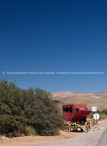 Old wagon by roadside, Bonnie Springs, Red Rock Canyon, located 20 miles west of Las Vegas off State Highway 159