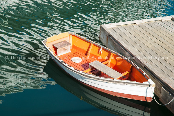 Restored dinghy. Boothbay, Maine, USA