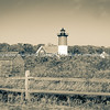 Nauset Beach,  lighthouse sepia toned vintage effect