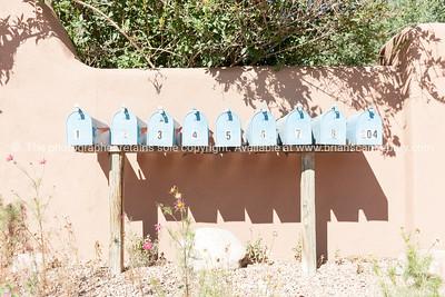 Buildings and signs Santa Fe, New Mexico, USA.-13-2