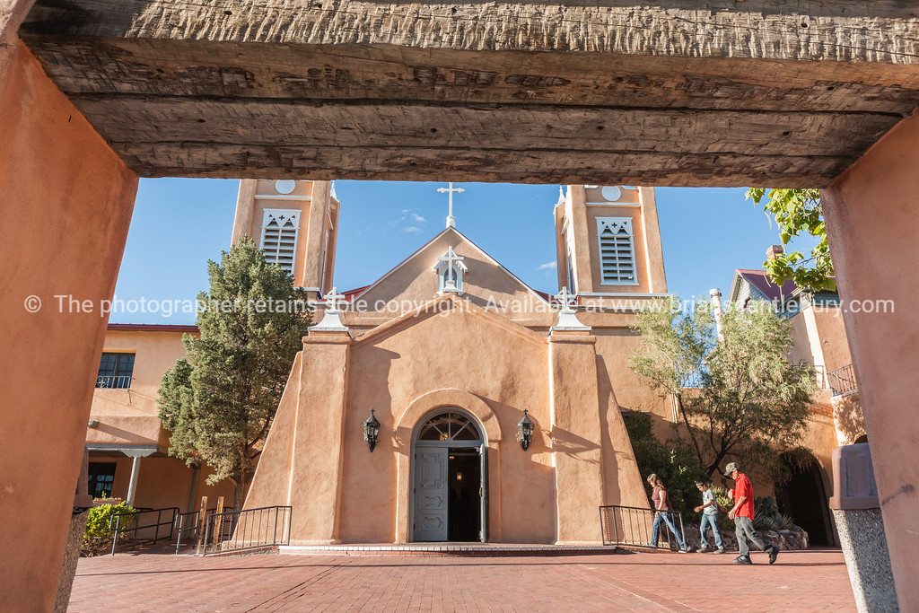 San Felipe de Neri Church in Spanish architectural style in Plaza, Albuquerque, New Mexico, USA.