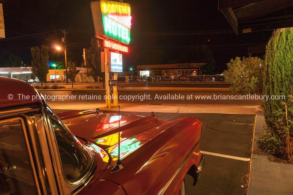 Monterey Motel neon sign, Albuquerque, New Mexico, USA.