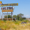Whiting Bros, Motel and groceries sign, in uncared for state on Historic Route 66, San Fidel, New Mexico, USA.dng