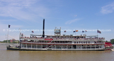 Natchez, paddle steamer on Mississippi River, New Orleans.