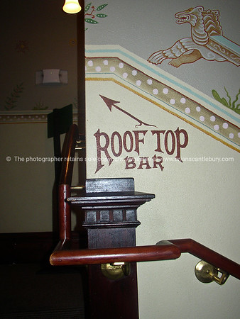 Bar sign, to Roof top Bar.