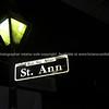 St. Anne Street, sign at night, New Orleans, USA.<br /> Rue Ste. Ann.