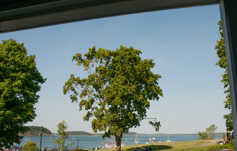 • Location - Downtown Bar Harbor Maine<br /> • A view from the porch where we were eating dinner at Galyn's restaurant