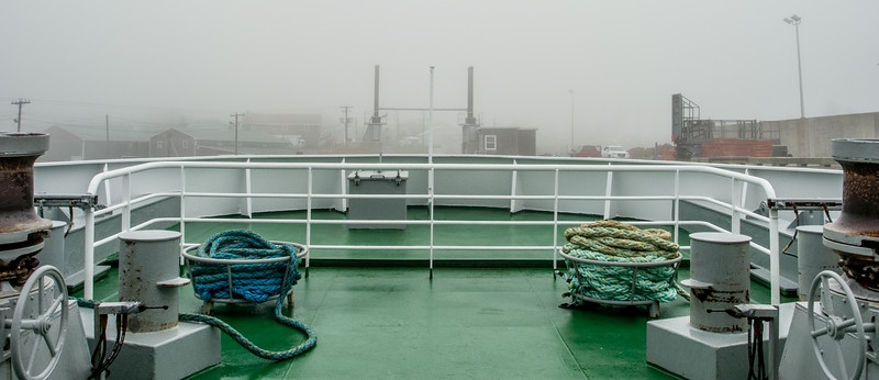 • Location - Grand Manan Island<br /> • I captured this photo at the bow of the ferry looking at the foggy port of Grand Manan