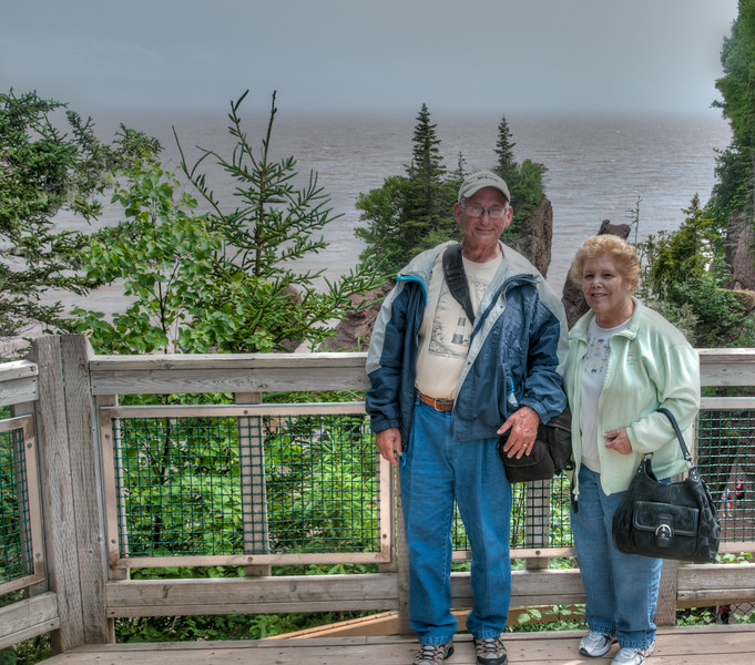 • Location - Hopewell Rocks in New Brunswick Canada<br /> • This is a photo a park ranger took of Sandy and me at the to of Staircase Cove
