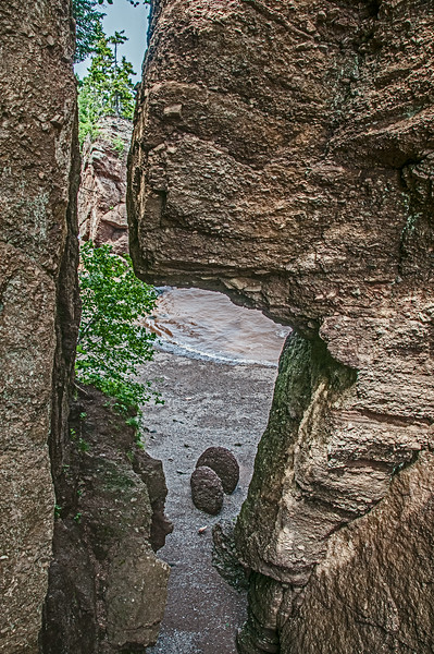 • Location - Hopewell Rocks in New Brunswick Canada<br /> • Another view from the steps at Staircase Cove