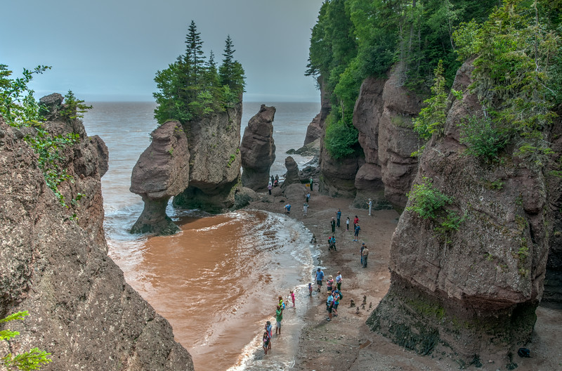 • Location - Hopewell Rocks in New Brunswick Canada<br /> • Midway down the steps at Staircase Cove