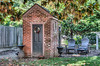 • Location - New Castle, Delaware<br /> • This looked a old two potty outhouse