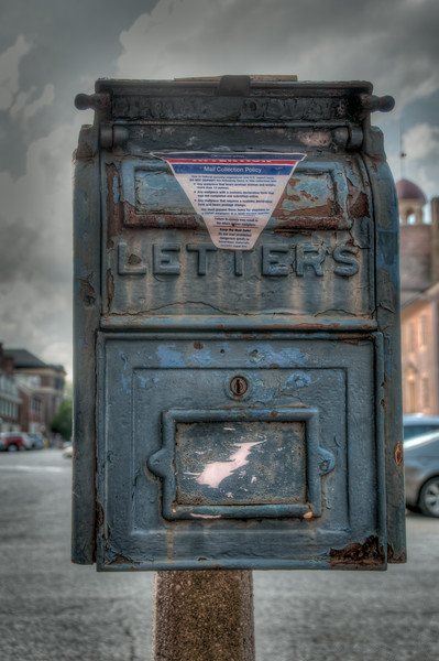 • Location - New Castle, Delaware<br /> • An old U.S.mailbox Sandy wanted me take photos of