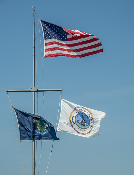 • Location - Cape Elizabeth, ME<br /> • A trio of flags I captured