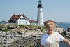 • Location - Cape Elizabeth, ME<br /> • Sandy posing in front of the lighthouse