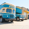 Page Moving and Storage vintage yellow and blue trucks, buidlings and street scenes Tulsa, Oklahoma on Route 66