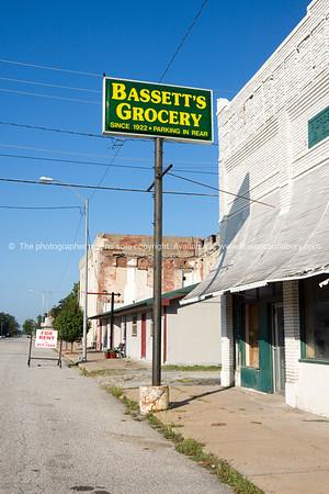 Street through ghost town Afton, Oklahoma on Route 66