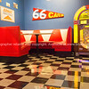 66 Cafe, retro cafe interior, Route 66.