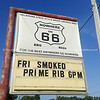 smartphone, sign Nowhere, Route 66, USA.