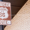 Rustic bar sign shield shape for Route 66 USA.  one of the incredible variety of 66 signs seen along the historic route