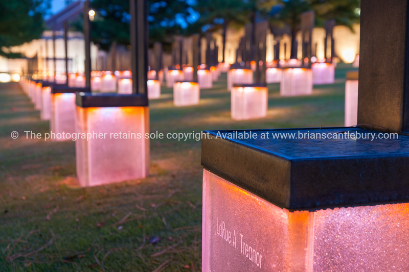 Oklahoma Bombing Memorial Field of Empty Chairs