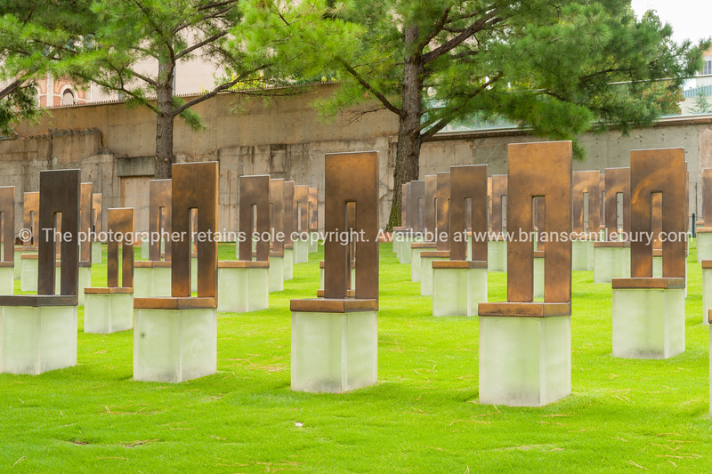 Field of Empty Chairs remembering the 168 killed in Oklahoma bombing in 1997