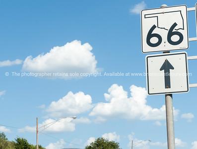 Oklahoma Route 66 state sign, Oklahoma on Route 66